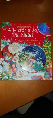 Livro a História do Pai Natal+ DVD 4-7 anos