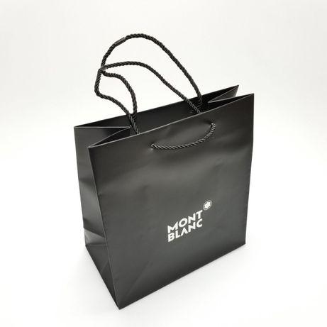 Подарочная сумка Montblanc среднего размера черного цвета
