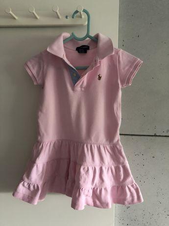 Sukienka polo Ralph Lauren 98-104, na 3 latka, różowa