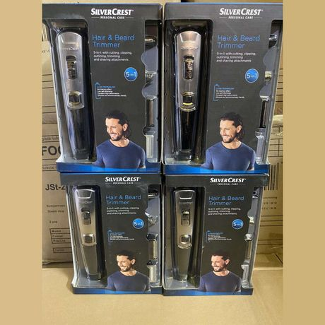 Триммер для волосся та бороди 5в1 Silver Crest SHBS 3.7 C1 чорний/мета