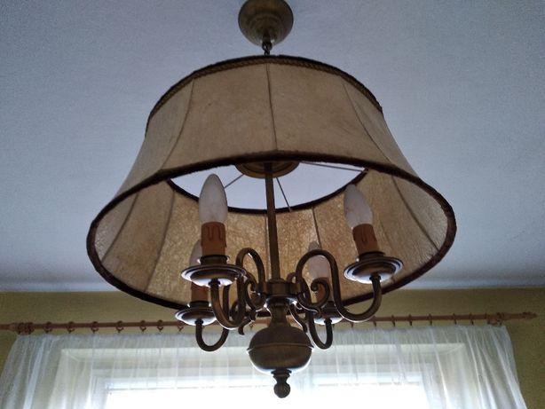 Lampy ze skóry dwie w komplecie