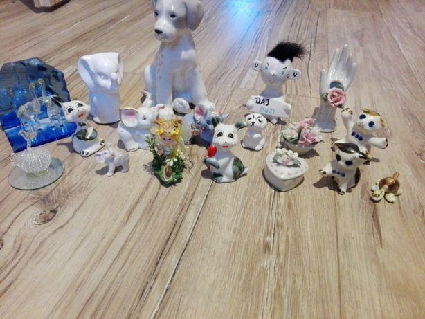 Figurki szklane i porcelanowe