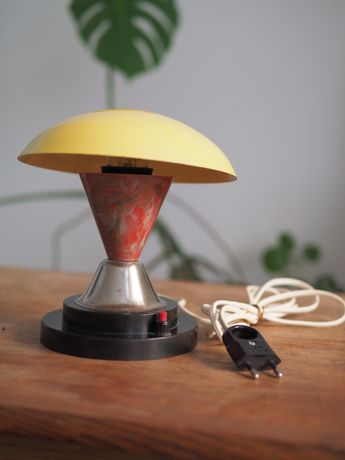 Lampka nocna grzybek vintage prl Gałecki lata 60