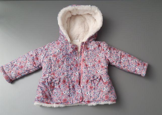 Kurtka zimowa dla dziewczynki + czapka