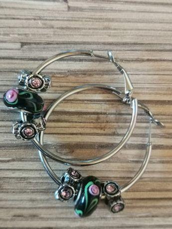 Серьги кольца, бижутерия