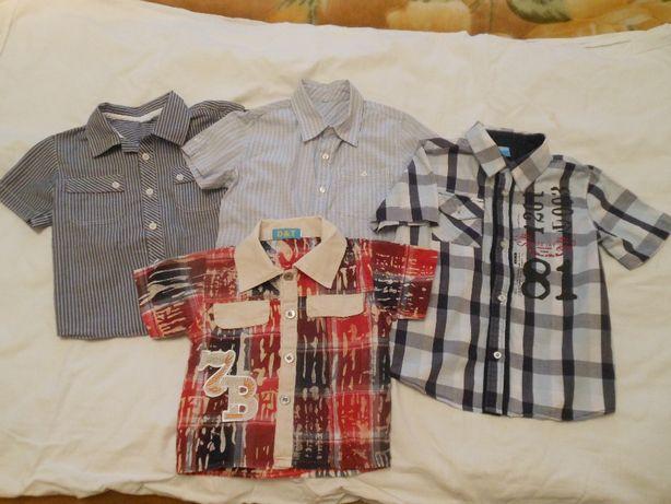 Рубашки фирменные качественные для мальчика размер 71-130