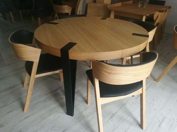 Stół okragły,loft  Fi 120+50 plus 4 krzesła PROMOCJA !