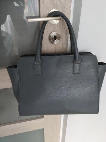 Torebka SinSay szara city bag torba do ręki, mieści A4