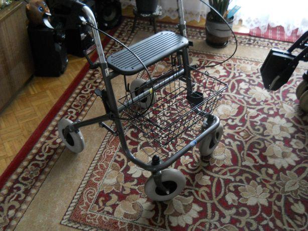 chodzik , balkonik czterokołowy dla niepełnosprawnych i seniorów