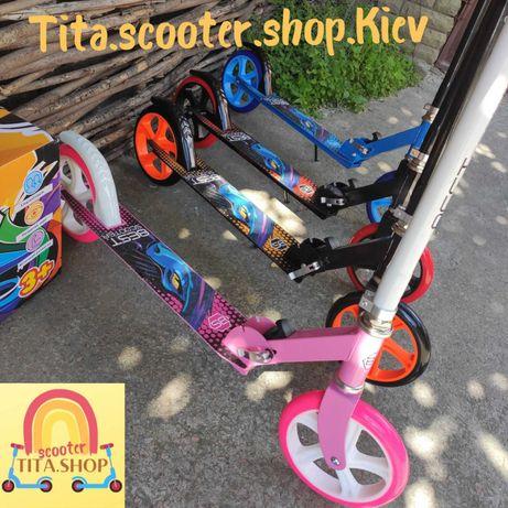 Детский двухколёсный самокат колеса 20 см ITRIKE,подростковый самокат