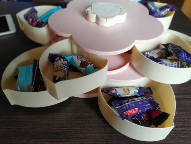 Новинка цукерочниця-органайзер складний для смаколиків candy box