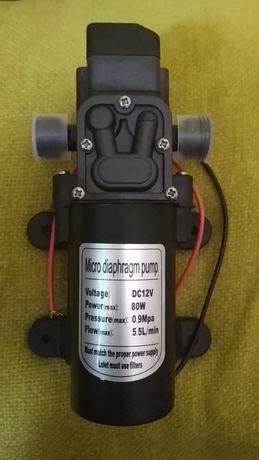 Bomba água 12v, 80W, diafragma