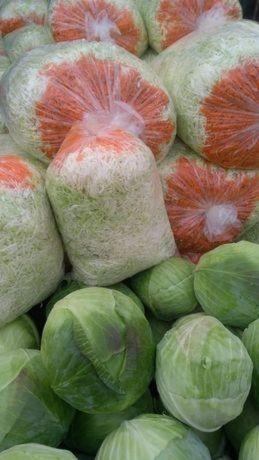 Świeża kapusta szatkowana z marchewką cena za worek 10 kg