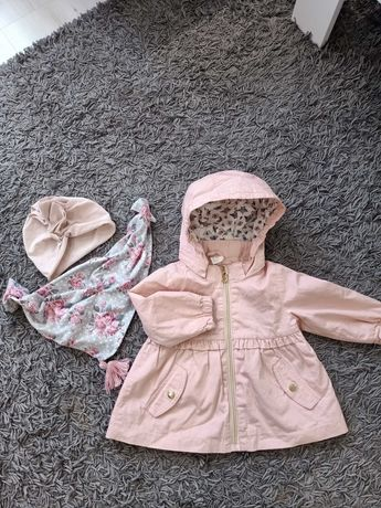 Kurtka/ parka wiosenna H&M  + turban z chustą.