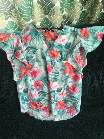 Bluzka w hawajskim stylu w kwiaty