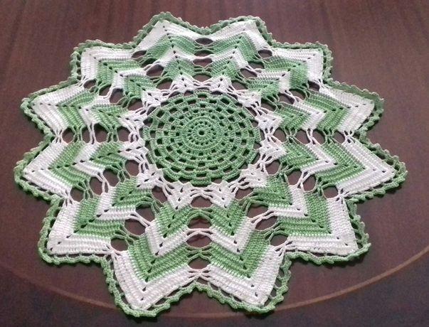 Naperon e Saco Pão em Crochet