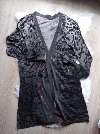 Narzutka kardigan sweterek w panterkę Gerry Weber XXL