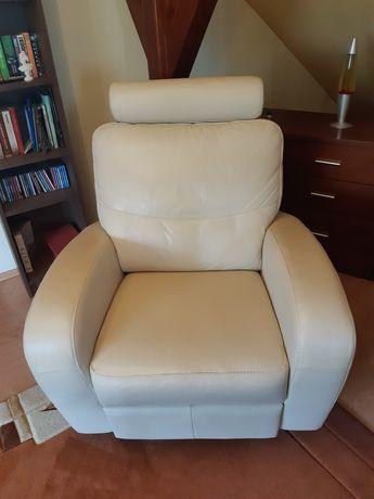 Sprzedam fotel bujany, obrotowy skórzany Swalen