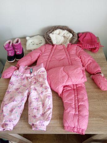 Zestaw zimowy dla dziewczynki rozmiar 12-18 miesiecy