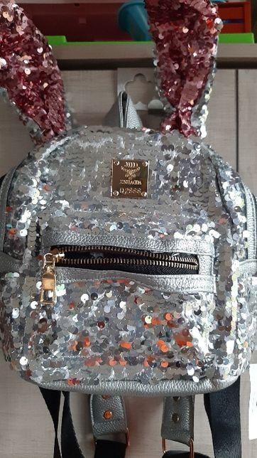 Plecak z cekinami dla dziewczynki - nowy