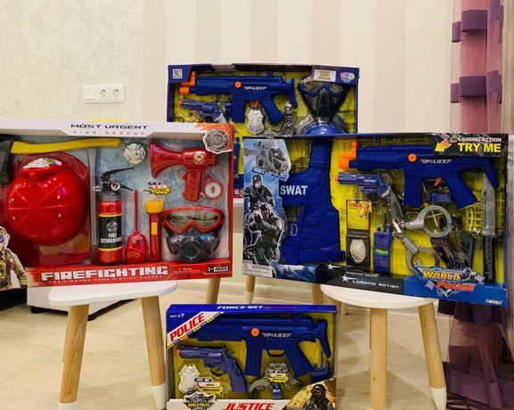 Полицейский набор детский для мальчика в коробке