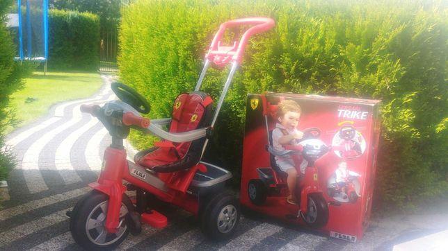Ferrari Feber rowerek pchacz 2 w 1 czerwony