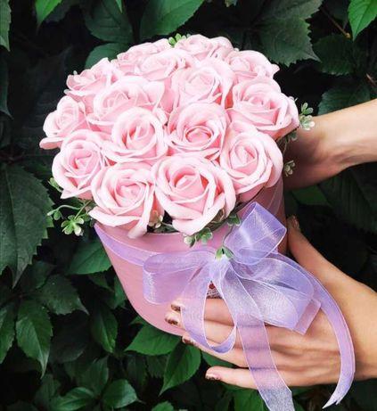 Мыльный букет роз