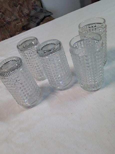 5 copos bicos transparentes