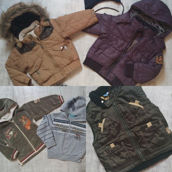 Zestaw 2 kurtki z Zary 2 bluzy z kapturem kamizelka czapka i kozaczki Zalasewo - image 1