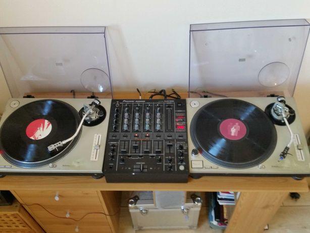 Gramofony Technics SL 1200, mixer Pioneer DJM-500, klubowy  zestaw DJ