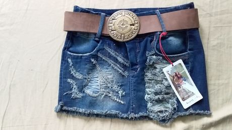 Юбка джинсовая рваная, новая -Asi Sea-colombia-08- оригинал (