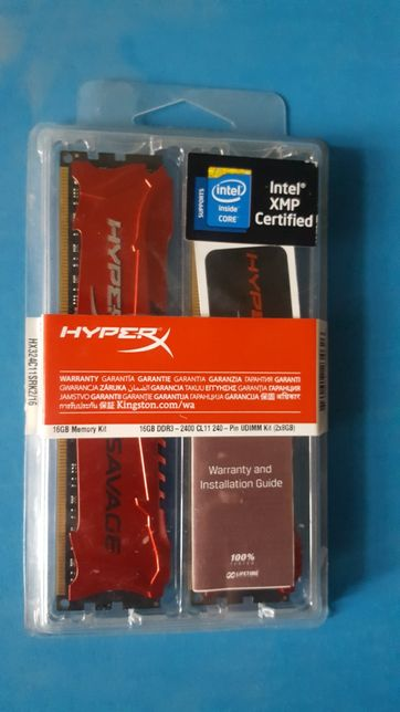 Kingston HyperX Savage 16gb(2х8) DDR3 2400Mhz