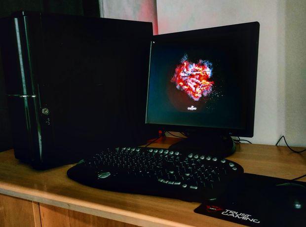 ПК+Монитор Игровой компьютер Видеокарта msi 2gb 4ядра 4Ггц ОЗУ 8гб SSD