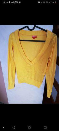 Żółty sweterek damski rozmiar S