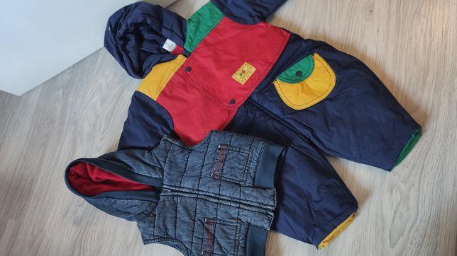 62/68 kamizelka jeans , kombinezon jak nowe