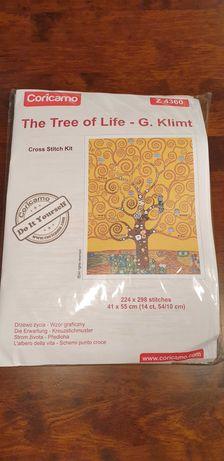 Zestaw do haftu krzyżykowego Drzewo życia Klimt