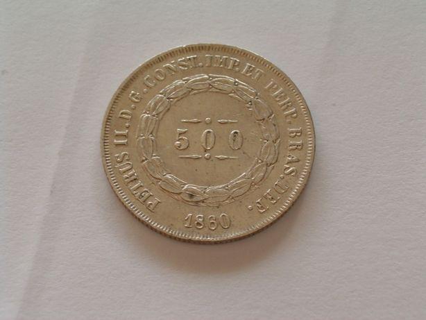Brasil / 500 Reis - 1860 / Prata