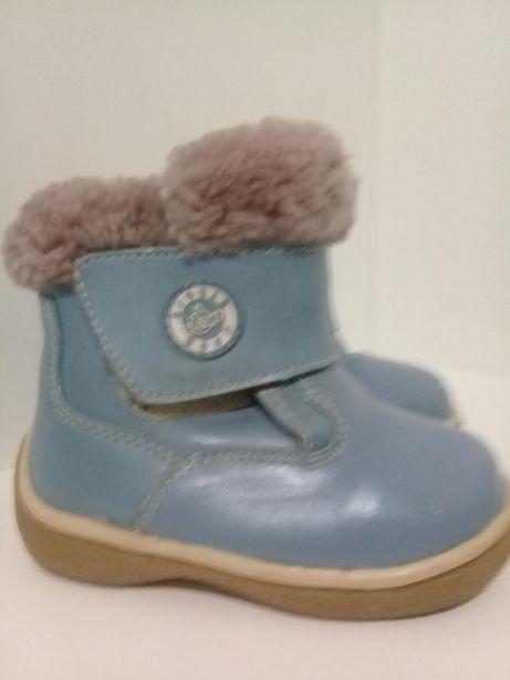 Ботинки зимние, кожа цегейка