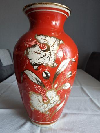 Piękny stary wazon z lat 70 porcelana Chodzież 42cm duży