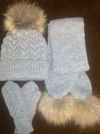 Зимняя шапка для мальчика (комплект)