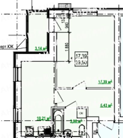 Продам 1-ком. квартиру в новострое ЖК Гидропарк 21500 y.e.AM
