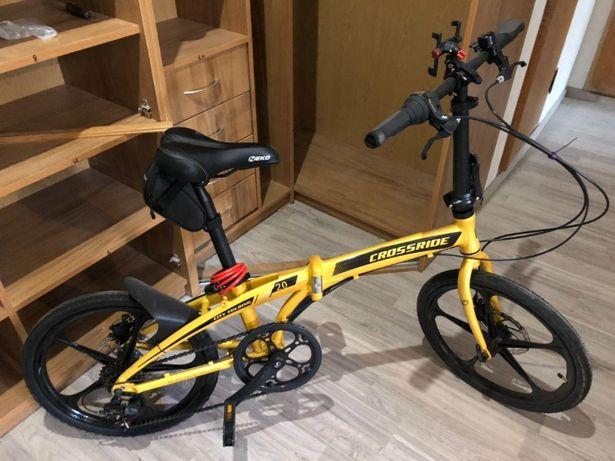 """Складной Велосипед - Crossride City Folding 20"""" (Жовтий)"""