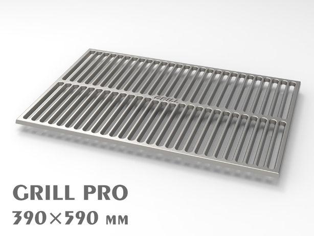 Решетка гриль 590*390 чугунная для барбекю и мангала BBQ GRILL PRO