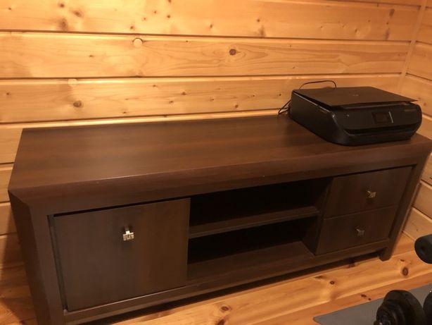 Komplet mebli do salonu- szafka RTV, ława i witryna