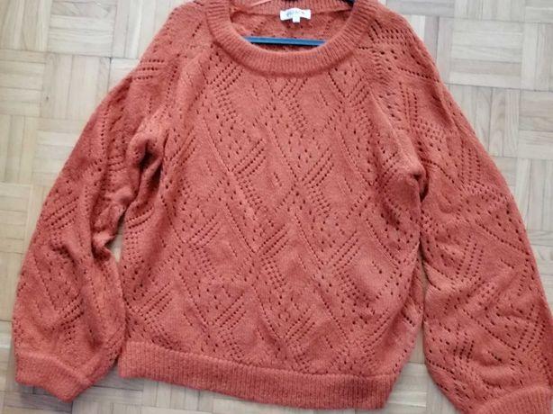 Sweter ażurowy damski