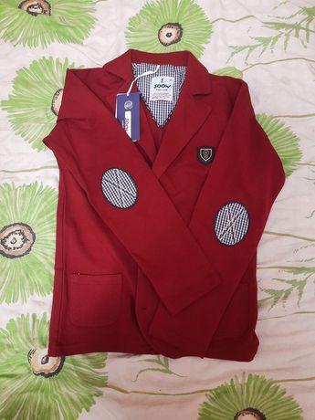 Детский трикотажный пиджак для мальчика размер 146 Турция