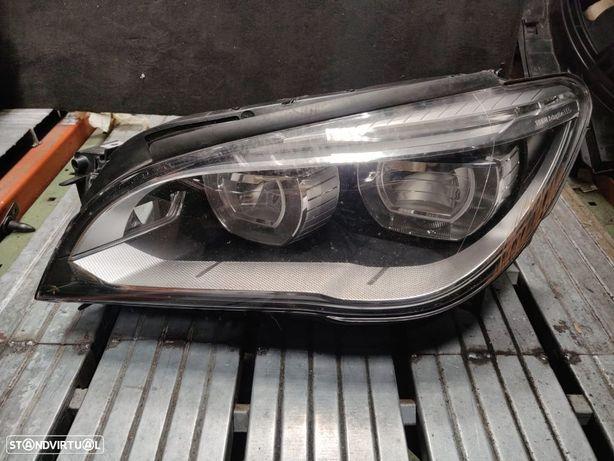 Farol Direito Esquerdo Adaptive LED BMW Serie 7 F01 F02 F03 F04 LCI Optica Otica esquerda Direita