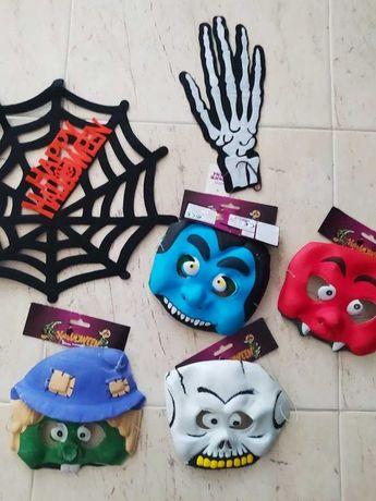 Artigos de Halloween, Máscaras Halloween, novos com etiqueta