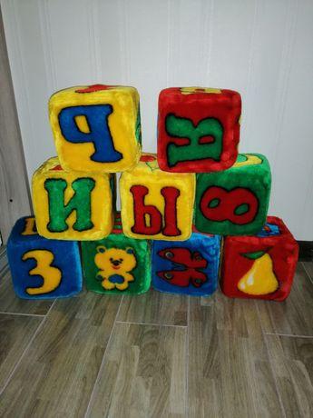 Кубики большие мягкие 9 шт