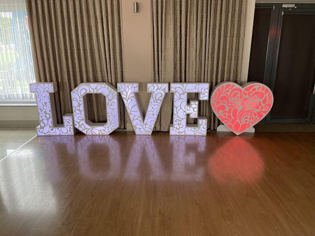 Napis LOVE + Serce Ażur LED 1m… Sprzedam